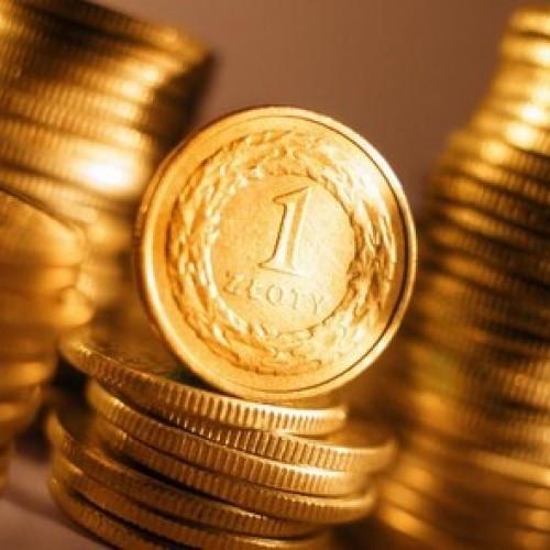 Złoty na miesięcznych maksimach
