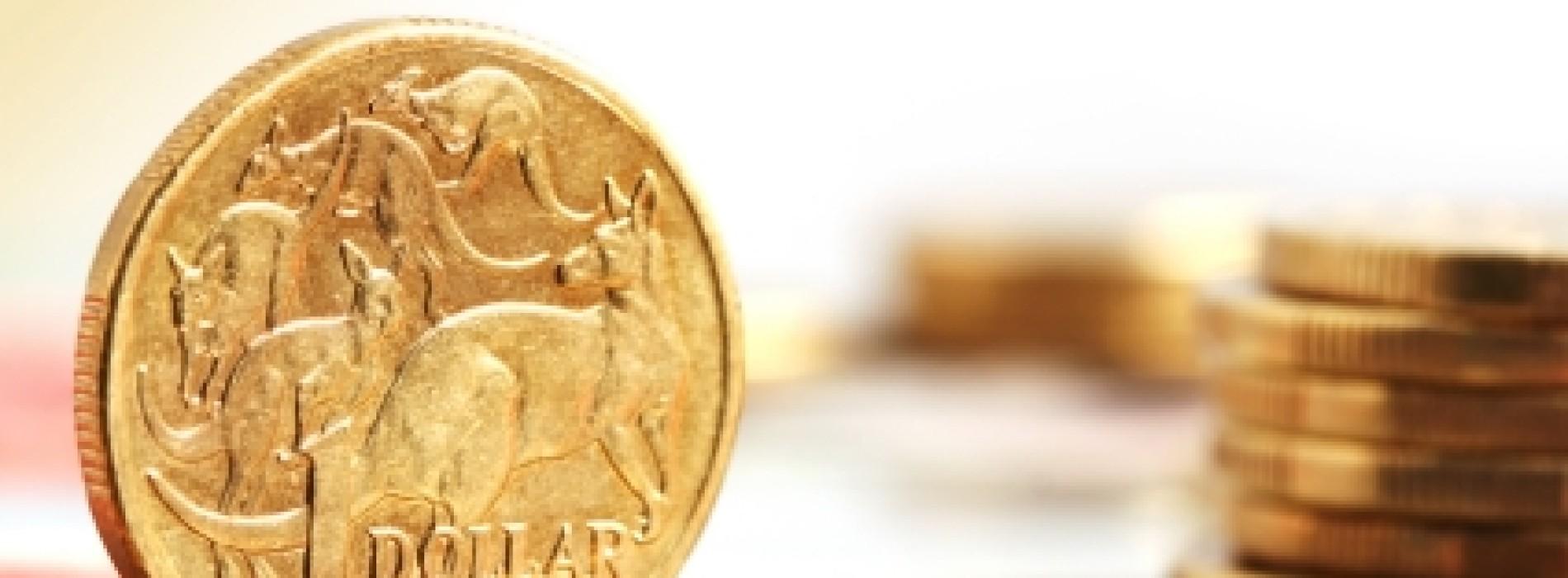 RBA obniża przeceniony kurs dolara australijskiego